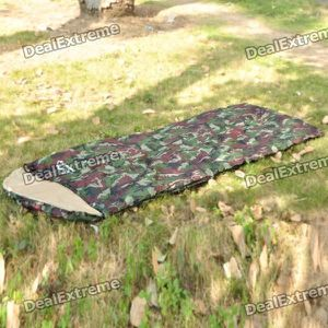 SAC DE COUCHAGE Sac de couchage Camping Warm Rectangle - Vert Camo