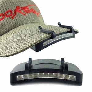 Batterie Incluse 5 LED Cap Lumi/ère Chapeau Main Libre Pratique Lampe de Poche Clip pour Sports de Plein air Jogging