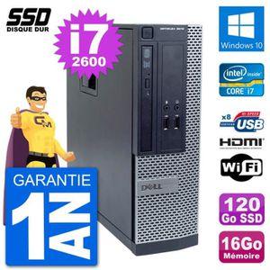 ORDI BUREAU RECONDITIONNÉ PC Dell OptiPlex 3010 SFF Intel i7-2600 RAM 16Go S
