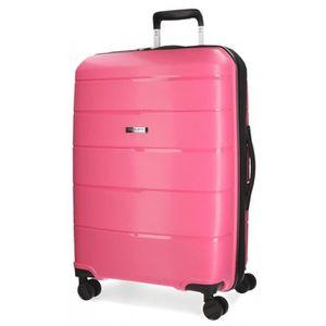 VALISE - BAGAGE Vent fuchsia grande valise rigide Movom 75cm
