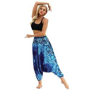 Miss Belly Dance Pantalon Ventre Sarouel en Satin de Danse pour Femme