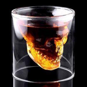 Verre à bière - Cidre Magique!!! 1 Verre à Vin en forme Cool Skull Head