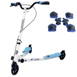 TROTTINETTE SUNGLE trottinette 3 roues bleue pliable avec 2 pl