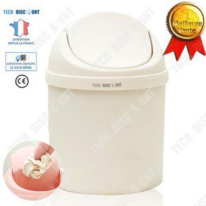 Rink Drink Lot Poubelle de Salle de Bain /à p/édale et Brosse /à Toilettes Blanc Poubelle carr/ée de 3 litres