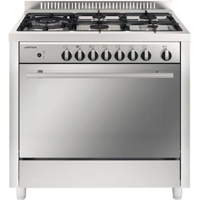 Airlux Matrix AX96CVIX Cuisinière pose libre largeur : 90 cm profondeur : 60 cm hauteur : 97 cm avec système auto-nettoyant…