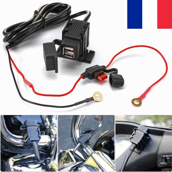 12-24V moto étanche 2.1A double chargeur USB adaptateur de prise de courant chargeur de guidon pour moto vélo électronique