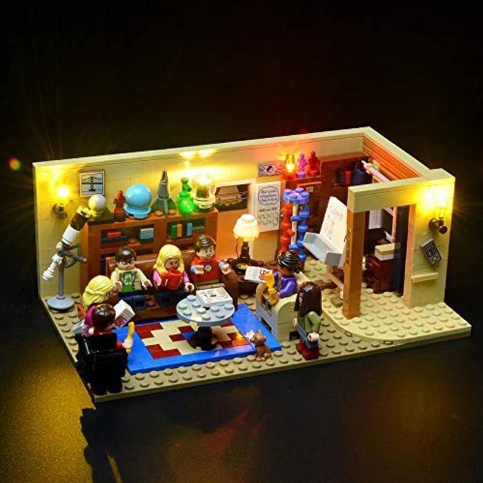 Jeu D'Assemblage RA7EU Big Bang Theory Led Kit- Compatible avec Lego 21302 blocs de construction Modèle- Non Inclure les Lego