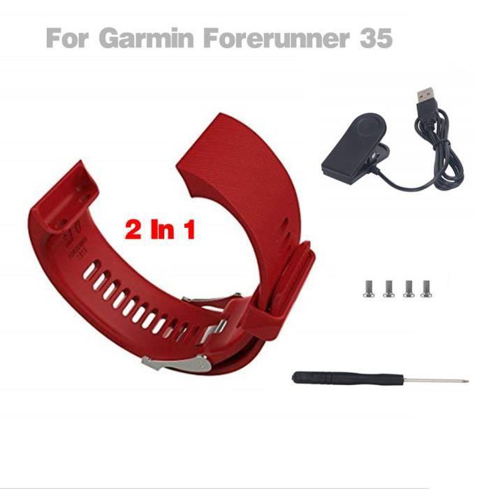 Pour Garmin Forerunner 35 Montre Bracelet Moniteur de Fréquence Cardiaque + Chargeur miettelove 6230 yyzzyy