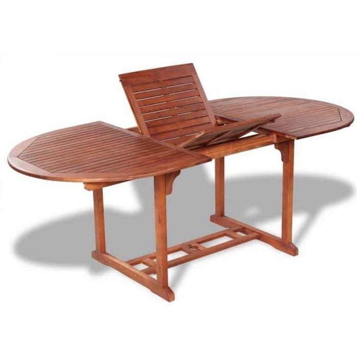 Table de jardin 200x100x74 cm Bois d'acacia massif-GXU