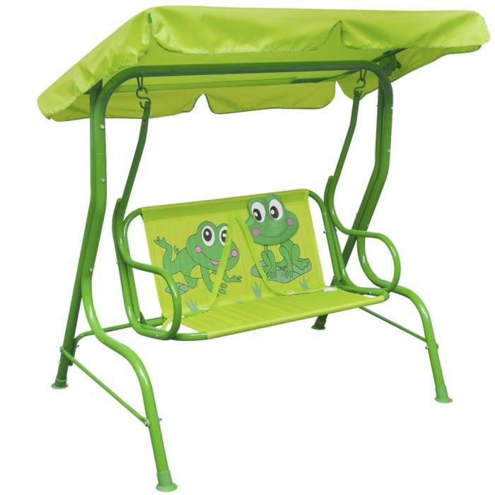 HAPPY*8279Haute Magnifique Balancelle De jardin - Balancelle d'extérieur Siège balançoire Balancelle pour enfants Bébé Grand Confort
