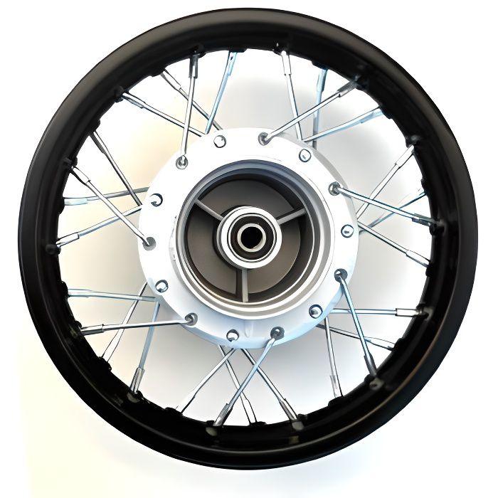Jante arrière 10- - Axe 12mm - Acier - Tambour - Dirt Bike
