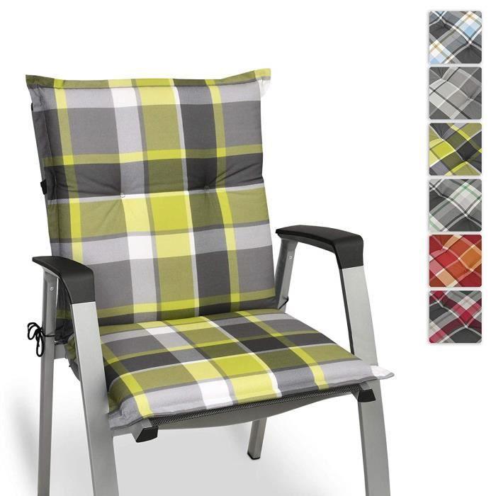 Beautissu Matelas Coussin pour Chaise Fauteuil de Jardin terrasse Sunny GR vert 100x50x6cm ( les chaises ne sont pas incluses)