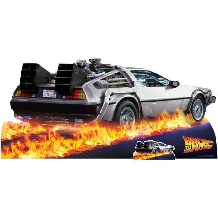 Figurine en carton du film Retour vers le futur, voiture DeLorean taille réelle H 90 x 195 cm