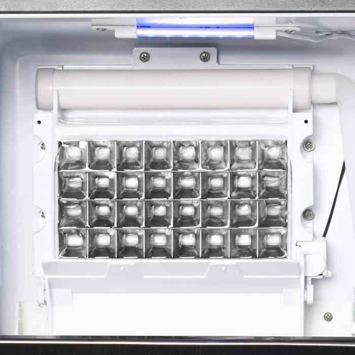 Appareil à Glaçons 420 W Noir 45kg-24h Machine à Glaçons Cube de Glace[14]