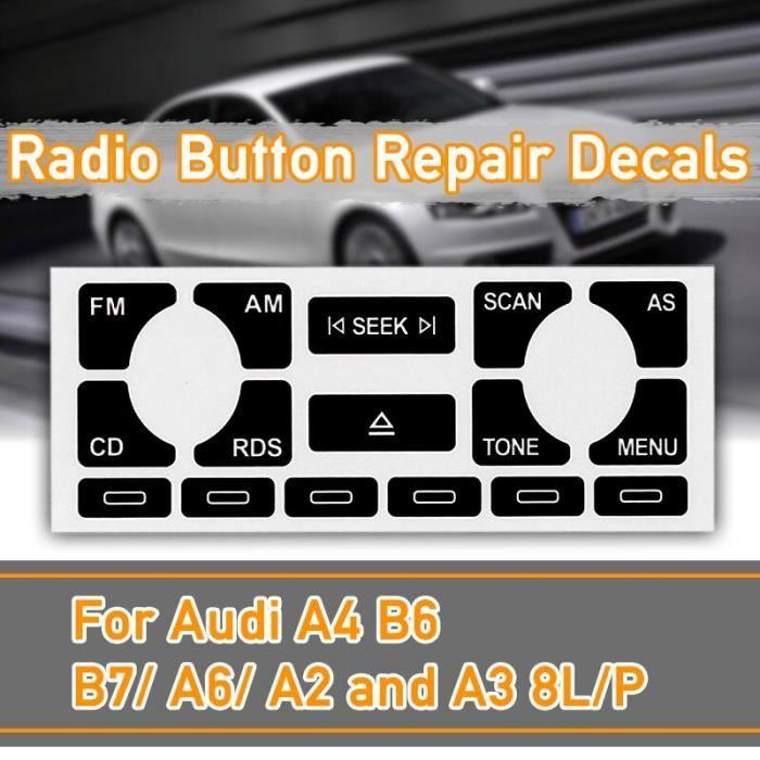 Autocollants de réparation pour Audi A4 B6 B7- A6- A2 A3 8L-P, autocollant de réparation pour autoradio multimédia stéré LX6695