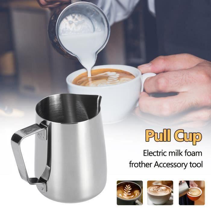 350ML Pichet à Meait Inox Pour Cappuccino Musse Tirer Fleur Cup Tasse De Café Me23439