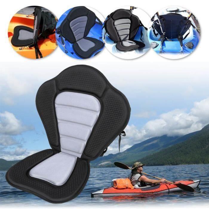 Coussin de kayak de luxe rembourré Kayak - anneau Siège de bateau portable Base antidérapante souple Coussin à dossier haut