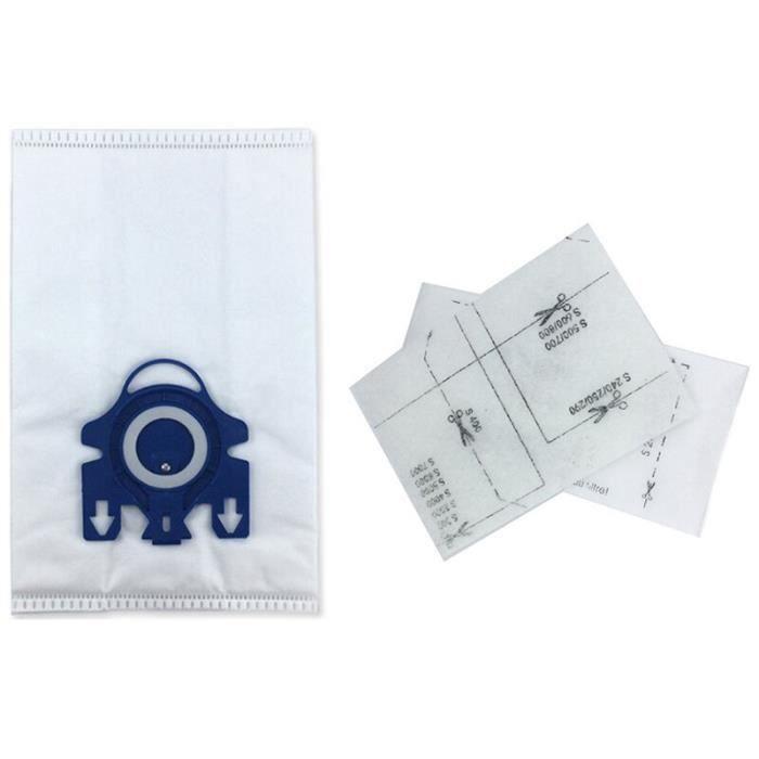 18 pièces aspirateur sacs à poussière + 6 pièces filtres pour Miele 3D GN complet C2 C3 S2 S5 S8 S5210 S5211 S8310 pièces d'aspi