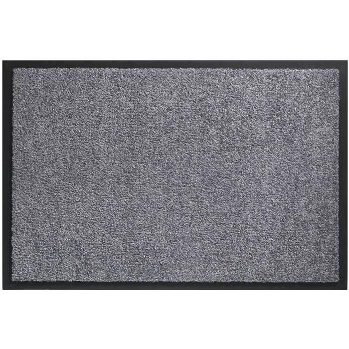 Tapis d´entrée TWISTER - Gris - 90x150 cm - Support vinyl antidérapant