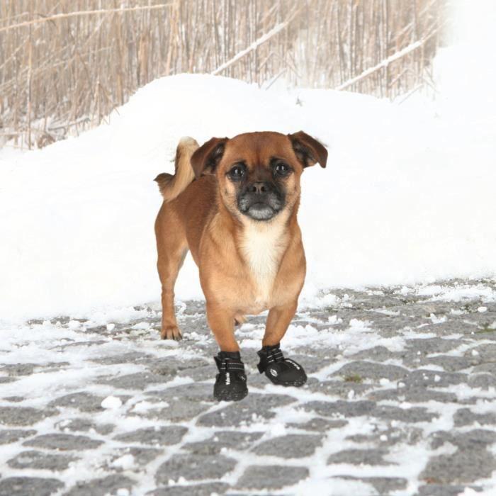 TRIXIE Bottes de protection Walker Active 2 pièces XS - Noir - Pour chien