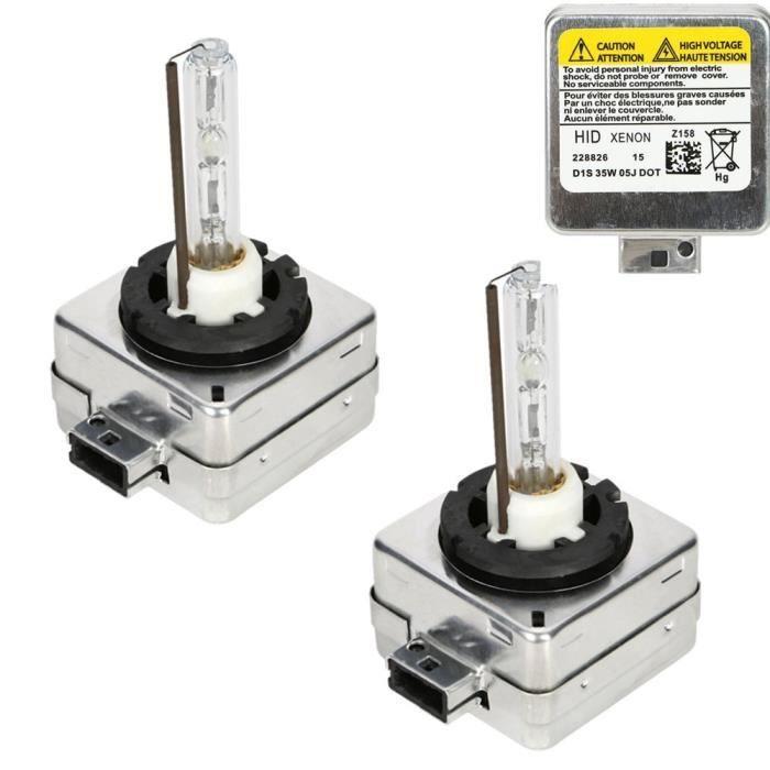 Ampoules D1S/C, CICMOD 1 Paire D1S D1C 35W 6000K Xénon HID Ampoules Lampes de Remplacement