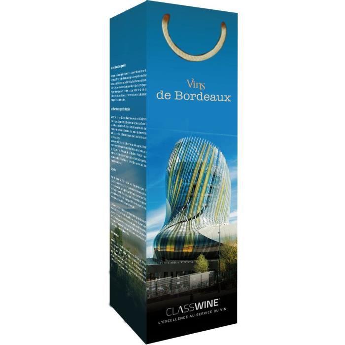 CLASSWINE Pochette pour 1 bouteille vin de Bordeaux cité du vin