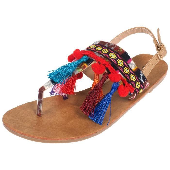 Sandales Chitta camel peruvien - Culture sud