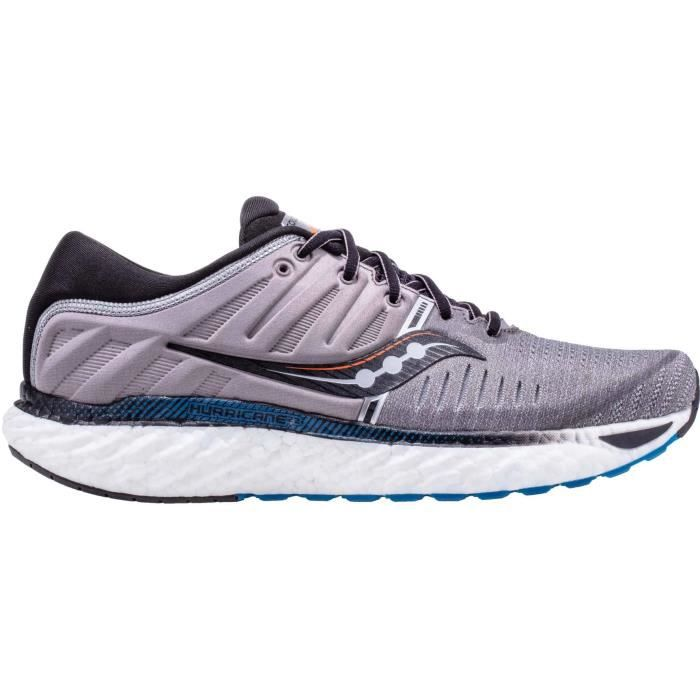 Saucony Hurricane 22 Hommes Chaussures running gris