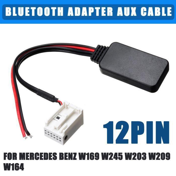 12pin Adaptateur Bluetooth Câble AUX Pour Mercedes Benz W169 W245 W203 W209 W164