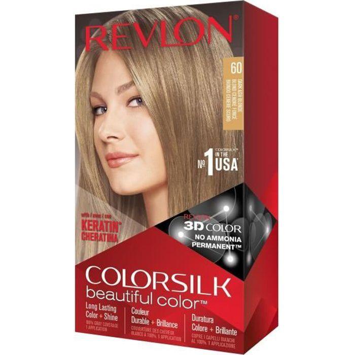 COLORSILK Coloration N°60 - Blond cendré foncé - 59,1 ml