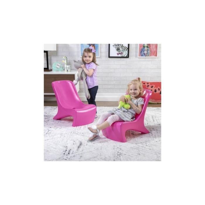 STEP 2 Junior Chic Set de 2 Chaises chambre table fille couleur Framboise fauteuils enfant à partir de 2 ans