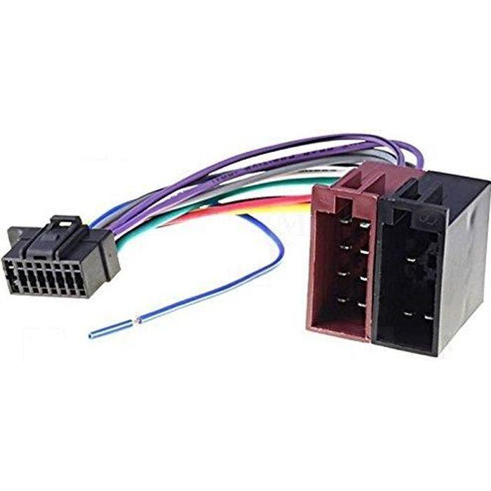Câble adaptateur ISO autoradio SONY MEX-BT3100U MEX-BT3150U MEX-BT4100P MEX-BT4100U