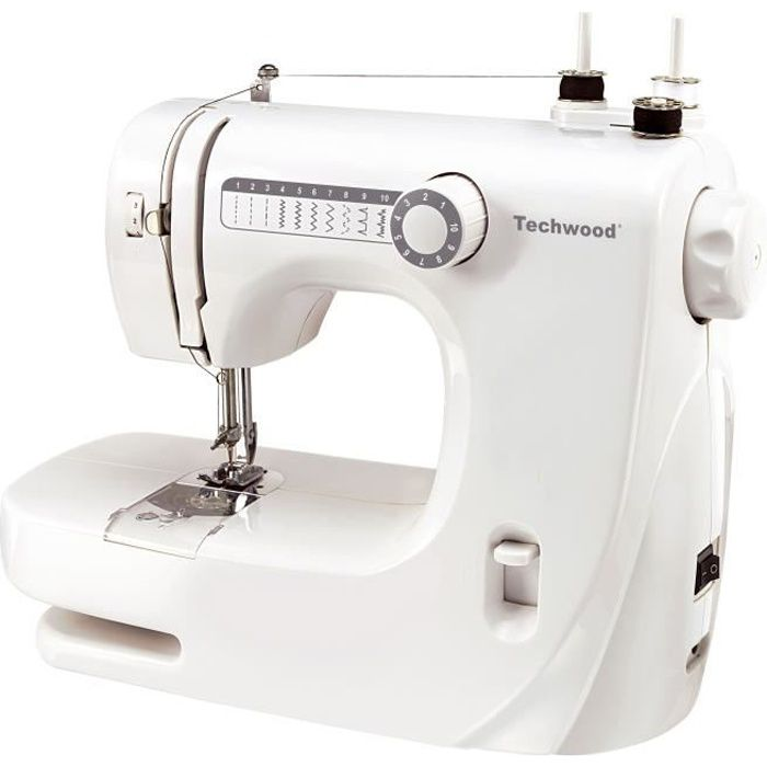 TECHWOOD TMAC-608 Machine à coudre - 10 pts - Blanc