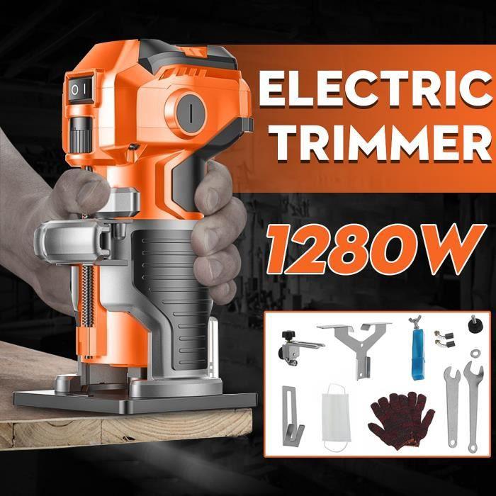 TEMPSA 35000r/min Kit de Trimmer Electrique a Bois Scie Coupe-bordures de Gravure Outil de Menuiserie en Aluminium 220v