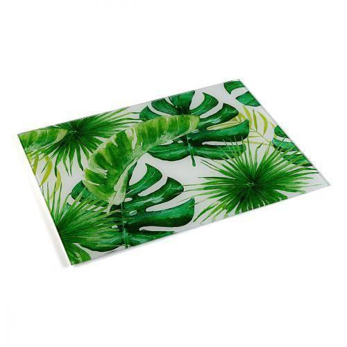 Planche en Verre - Tropical ( Catégorie : Couteau & Planche à découper )