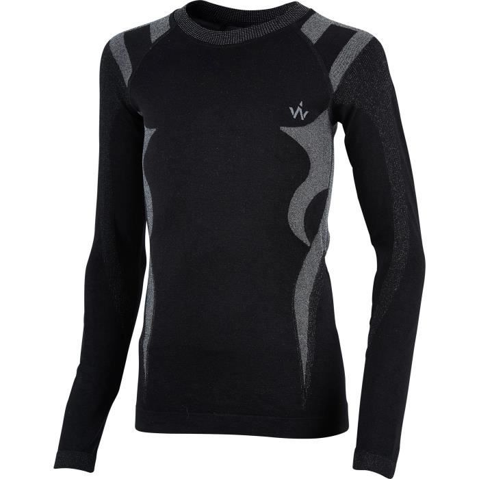 WANABEE Sous-vêtement de randonnée Haut Tech Fit Sml - Garçon - Noir