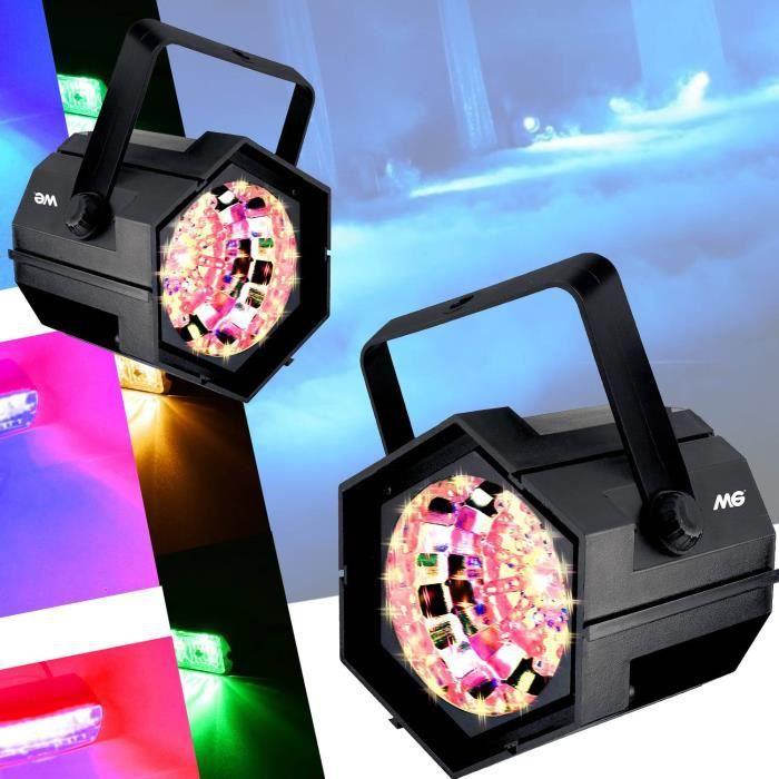 Pack Lumière Stroboscopes à 47 LED multicolore 4 couleurs Vitesse du flash réglable