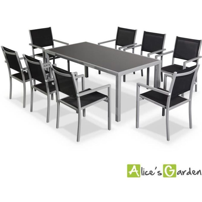 Capua 180 table de jardin 8 places alu textil ne achat vente salon de jar - Artelia salon de jardin ...