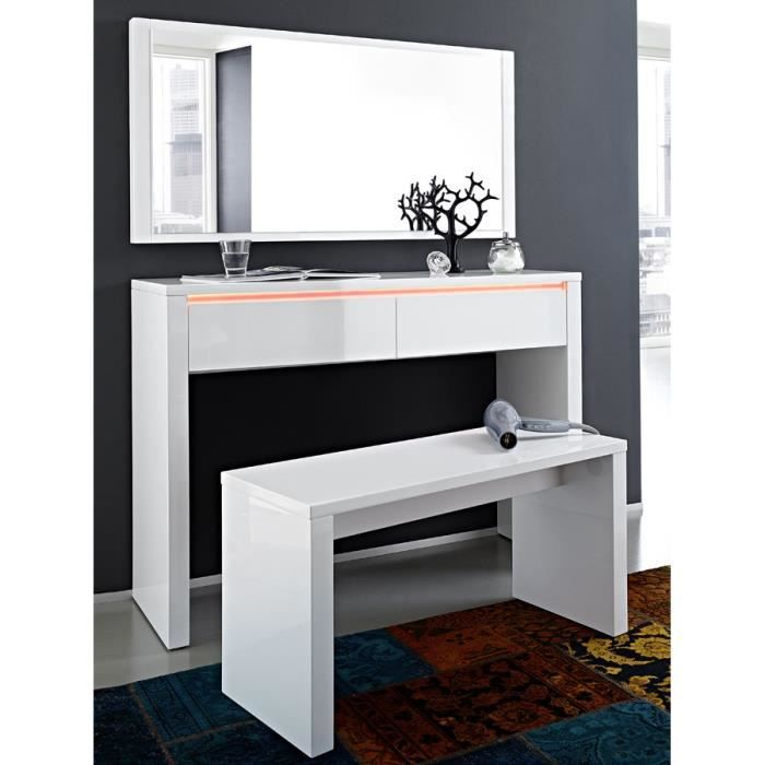 console murale blanc laqu brillant design nelly console. Black Bedroom Furniture Sets. Home Design Ideas