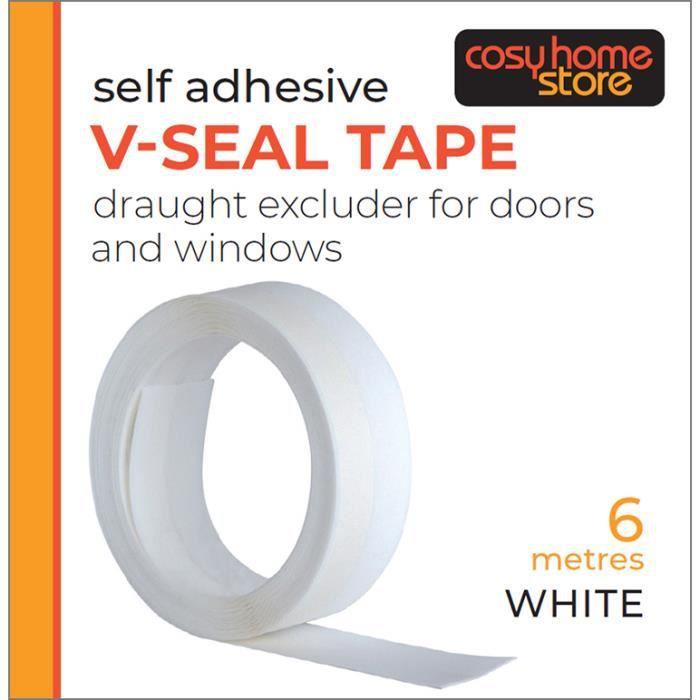 6 m blanc auto-adhésif porte//joint de fenêtre Bande-e profil