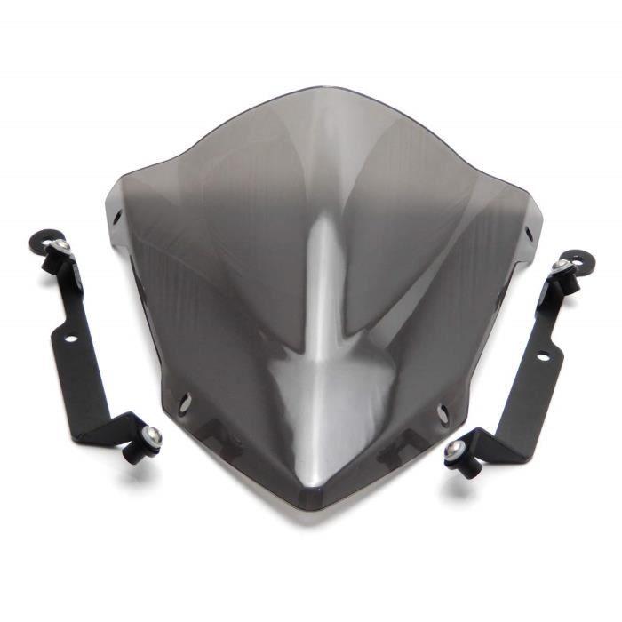 D/éflecteur De Vent De Moto /à Double Bulle D/éflecteur De Flux Dair De Moto Pare-brise Pour Kawasaki Z1000 2010 2011 2012 2013 noir