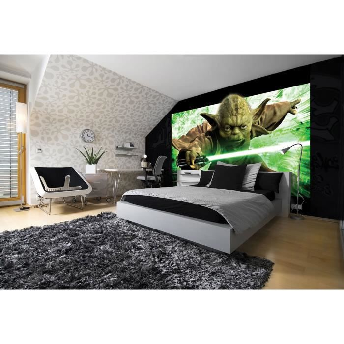 fresque murale yoda 254 x 184 cm papier peint star wars. Black Bedroom Furniture Sets. Home Design Ideas