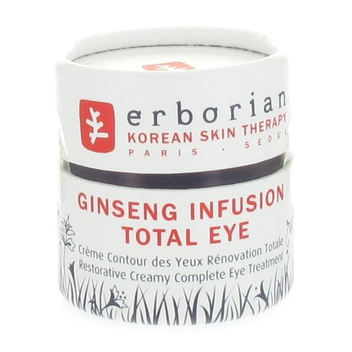erborian ginseng infusion total eye cr me cont achat vente hydratation b b erborian. Black Bedroom Furniture Sets. Home Design Ideas
