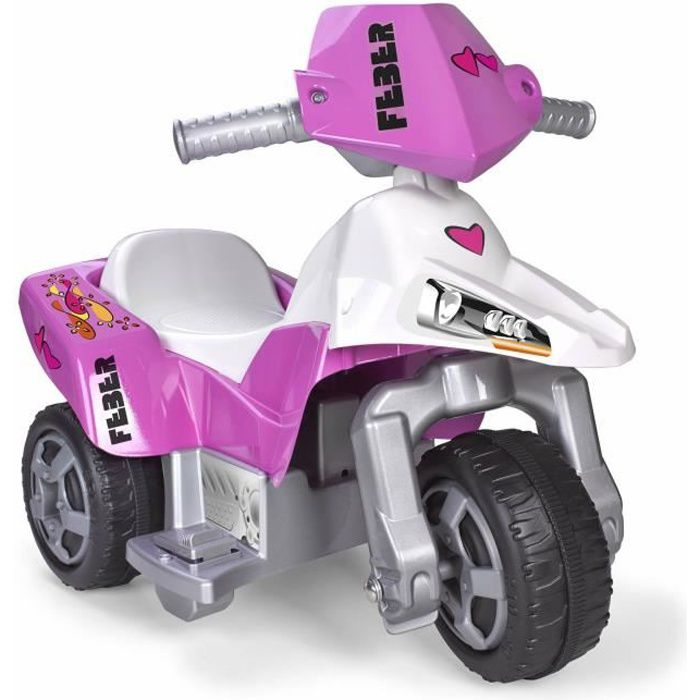 feber moto electrique enfant la trimoto pink tatoo 6 volts achat vente moto scooter. Black Bedroom Furniture Sets. Home Design Ideas