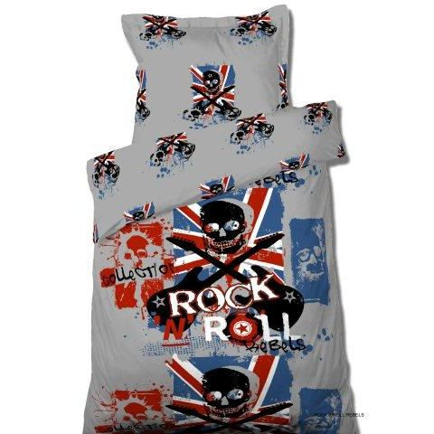 housse de couette 140x200 rock n roll rebels achat vente housse de co. Black Bedroom Furniture Sets. Home Design Ideas