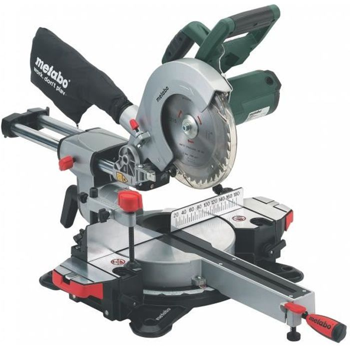 metabo scie à onglets radiale kgs216m 216 mm 1500 w - achat