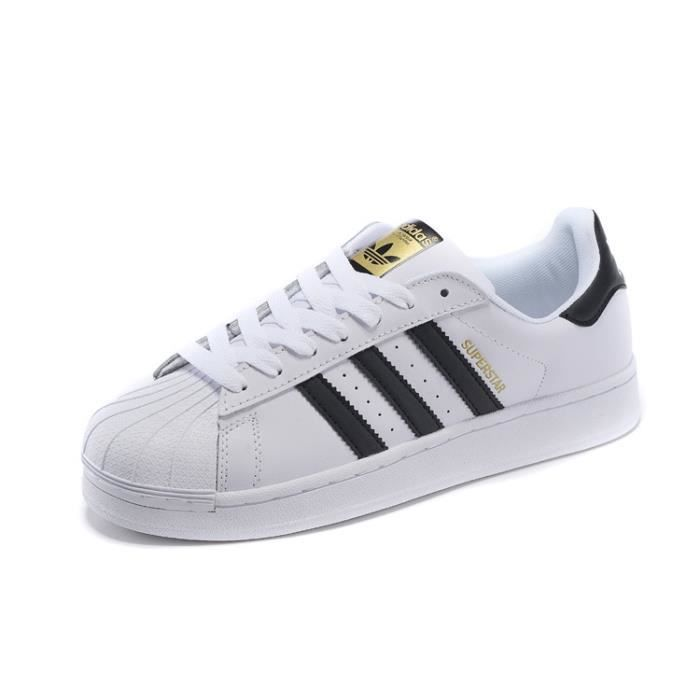 baskets adidas superstar 2 chaussures sneakers basses mixte enfant femme homme noir noir. Black Bedroom Furniture Sets. Home Design Ideas