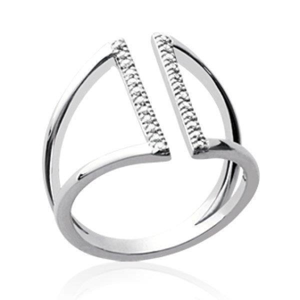 BAGUE - ANNEAU Bague anneau ouvert évasé femme - argent 925 massi