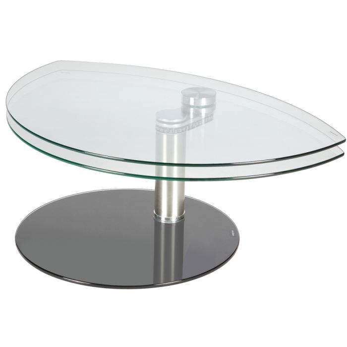 Table basse swithome isara verre transparent achat for Verre pour table basse