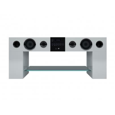 Meuble Tv Home Cinema Integre Stereo Blanc Achat Vente Meuble Tv Meuble Tv Home Cinema Integre Stereo Blanc Cdiscount